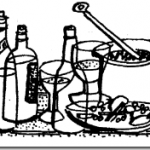 Bottles-pan-glasses-line-drawing_thumb.png