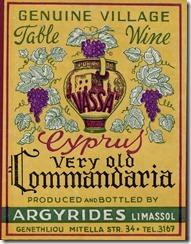 CWH -  1940s Vasa Commandaria label