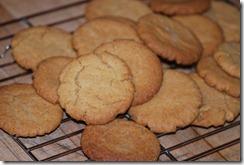 Ginger biscuits - 6 lovely, crisp and golden. 2