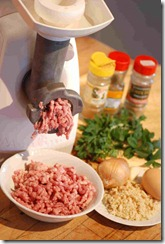 Kofta - mincing   ingredients