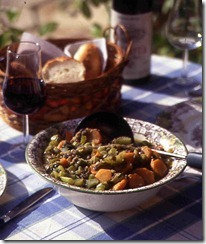 Lentil Stew with wine