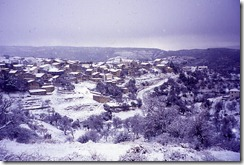 Vouni Village - general view in winter