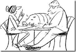 cartoon - large suckling pig