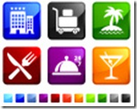 Hotel-amenities-sticker-set