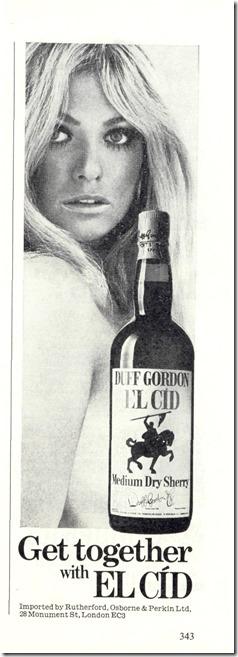 El Cid Sherry Ad.