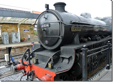 NYMR - 3 - LNER 4-6-0 Chryu at Whitby October 2014