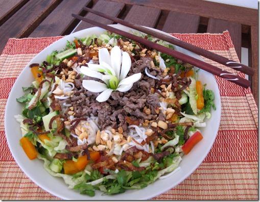 Vietnamese Cuisne - 3 - BUN BO NAM BO Beef noodles for summer